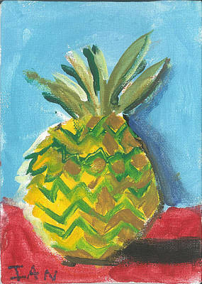 Painting - Pineapple Still Life by Ian Reynolds