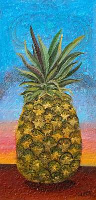 Painting - Pineapple Sunrise Or Pineapple Sunset by Anne Cameron Cutri