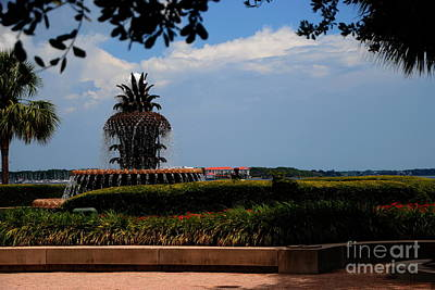 Photograph - Pineapple Symbol On Waterfront by Jacqueline M Lewis