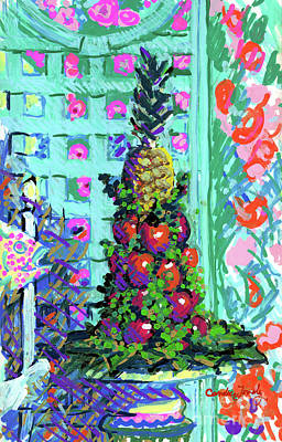Painting - Pineapple Tree by Candace Lovely