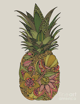 Pineapple Digital Art - Pineapple by Valentina
