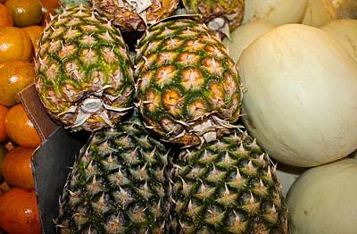 Photograph - Pineapples And Melons by Michiale Schneider