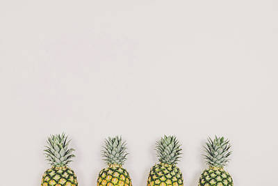 Pineapple Photograph - Pineapples by Happy Home Artistry