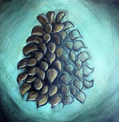 Painting - Pinecone Knows by Anna Elkins