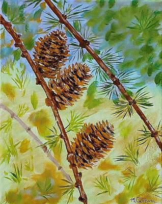 Painting - Pinecones  by Mike Caitham