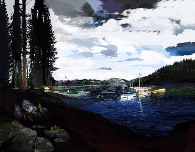 Pinecrest And Boats Art Print by Brad Burns