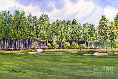Sports Paintings - Pinehurst Golf Course 17TH Hole by Bill Holkham