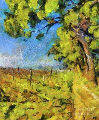 Painting - Pines And Vineyard by Dragica Micki Fortuna