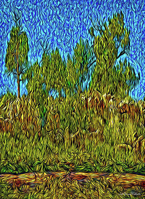 Digital Art - Pines At Dusk by Joel Bruce Wallach
