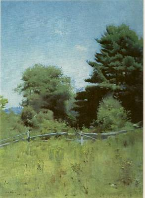 Dennis Miller Wall Art - Painting - Pines Beyond The Fence by Dennis Miller