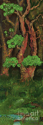 Folkartanna Painting - Pines By The Brook by Anna Folkartanna Maciejewska-Dyba