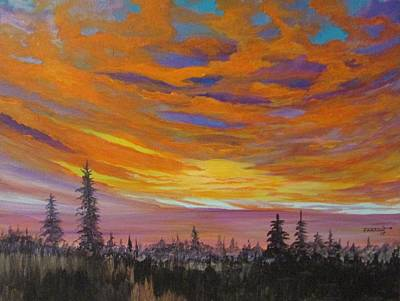 Painting - Pines by Dave Farrow