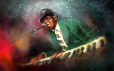 Piano Painting - Pinetop Perkins by Miki De Goodaboom