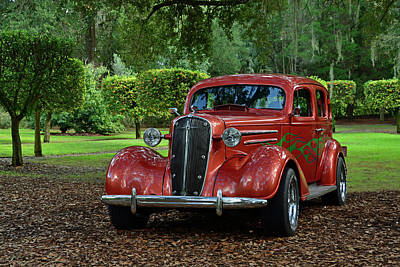 Custom Chevrolet Deluxe Photograph - Pinewood Classic by Ben Prepelka