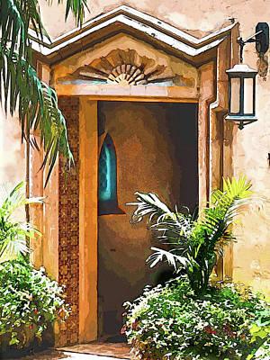 Photograph - Pinewood Estate Entrance In Watercolor by Susan Molnar