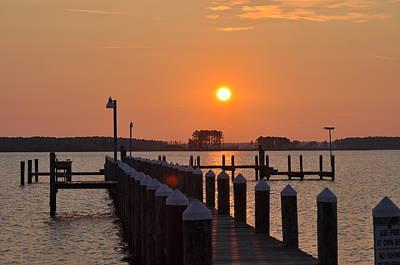 Pier Digital Art - Piney Point Sunrise by Bill Cannon
