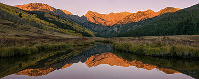 Gore Range Photograph - Piney River Panorama by Aaron Spong