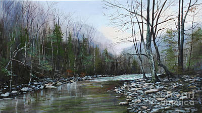 Cumberland River Painting - Piney River, Tennessee by Wayne Mathisen