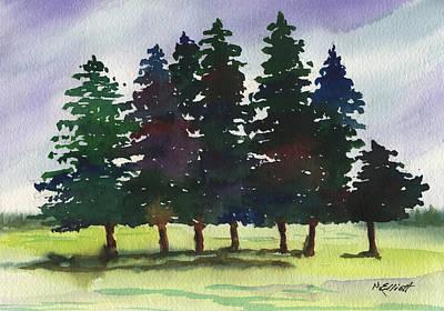 Pine Tree Painting - Piney Woods by Marsha Elliott