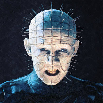 Horror Movies Painting - Pinhead by Taylan Apukovska