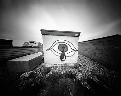 Photograph - Pinhole Crying Eye by Will Gudgeon