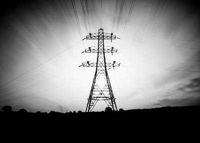Photograph - Pinhole Electrical Pylon by Will Gudgeon