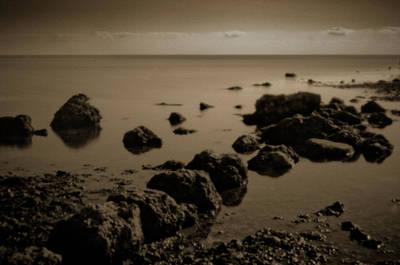 Photograph - Pinhole Seascape 3135sepia by Rudy Umans