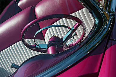 1955 Chevy Photograph - Pink 55 by Rebecca Cozart