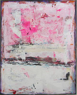 Contemporain Art Painting - Pink About It 5 by Francine Ethier