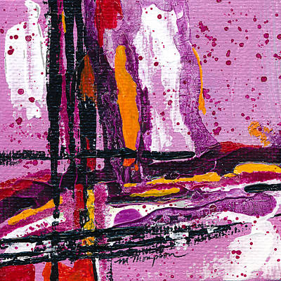 Painting - Pink Abstraction by Mary Elizabeth Thompson