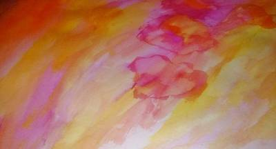 Multicolored Painting - Pink Air  by Stephanie Zelaya