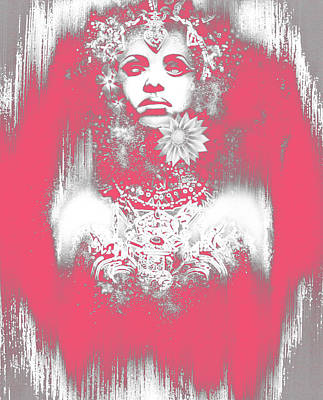 Anne Rice Digital Art - Pink Akasha by Michael Gibbs