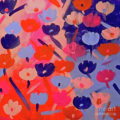 Depression Painting - Pink And Blue Bruises by Jilian Cramb - AMothersFineArt