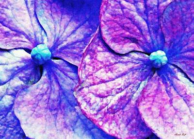 Photograph - Pink And Blue Hydrangea 2 by Sarah Loft