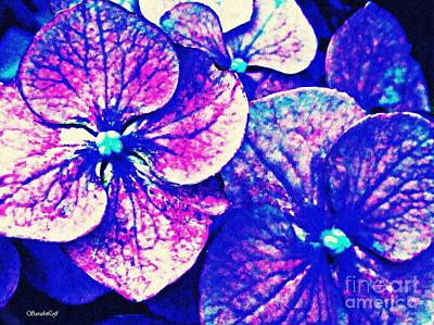 Photograph - Pink And Blue Hydrangea by Sarah Loft
