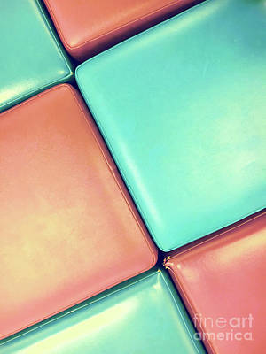 Photograph - Pink And Blue Leather by Tom Gowanlock