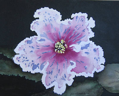Painting - Pink And Blue Violet by Jean Sumption
