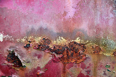 Photograph - Pink And Gold Absract by Ann Bridges