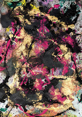 Pink And Gold Merge Art Print
