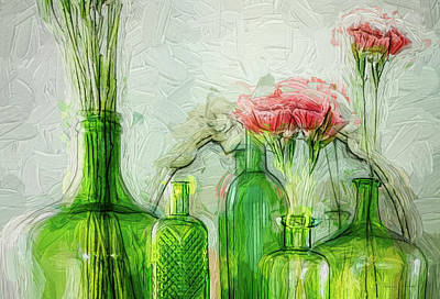 Photograph - Pink And Green by Bellesouth Studio
