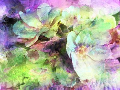 Photograph - Pink And Green Floral Abstract by Dorothy Berry-Lound