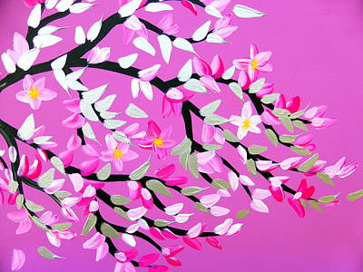 Royalty-Free and Rights-Managed Images - Pink and Grey Cherry Blossom by Cathy Jacobs