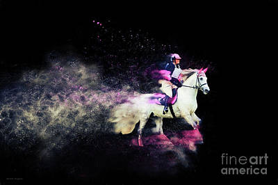Photograph - Pink And Grey Eventer - Colour Explosion by Michelle Wrighton