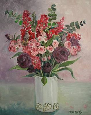 Painting - Pink And Lavender Flowers by Fran Kelly