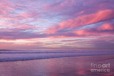 Pink And Lavender Sunset Art Print