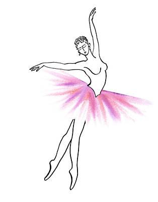 Painting - Pink And Light Tutu by Irina Sztukowski