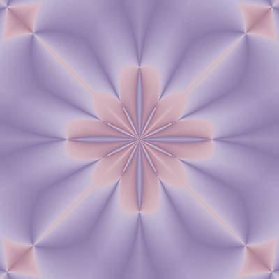 Bringing The Outdoors In - Pink and Lilac 3D Flower Two by Lena Photo Art
