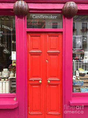 Photograph - Pink And Orange Door Ireland by Suzanne Lorenz