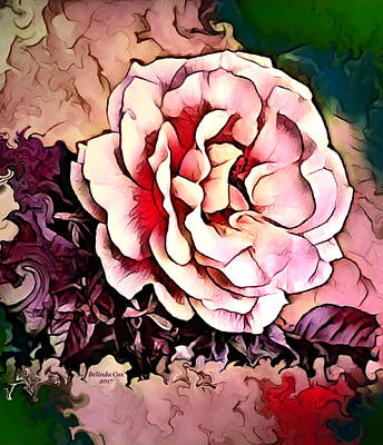 Digital Art - Pink And Peach Blossom by Artful Oasis