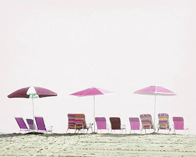 Photograph - Pink And Plum Beach Chairs by Brooke T Ryan